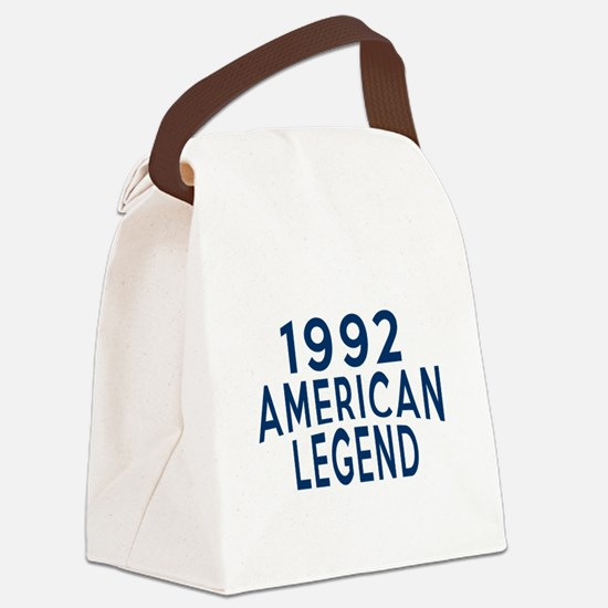 1992 American Legend Birthday Des Canvas Lunch Bag