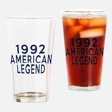 1992 American Legend Birthday Desig Drinking Glass