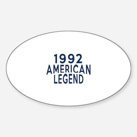 1992 American Legend Birthday Desig Sticker (Oval)