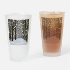 Snow trail Drinking Glass