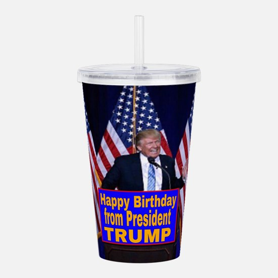 Happy Birthday from Pr Acrylic Double-wall Tumbler