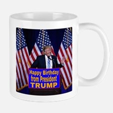 Happy Birthday from President Trump Mugs