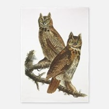 Great Horned Owls 5'x7'area Rug