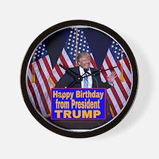 Happy Birthday from President Trump Wall Clock