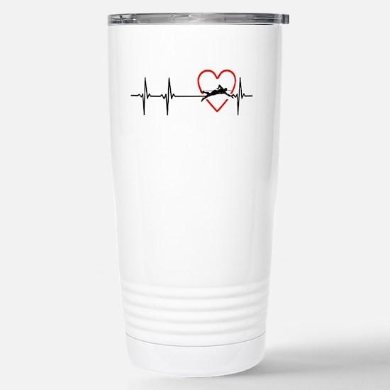 i love swimming Stainless Steel Travel Mug