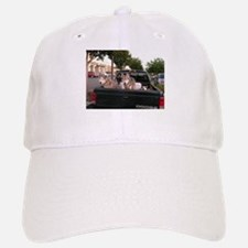 Siberian husky dogs watching from back of Gree Baseball Baseball Cap
