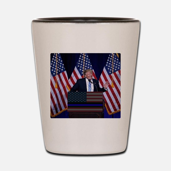Trump Law and Order President Shot Glass
