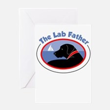 the lab father Greeting Cards