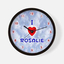 I Love Rosalie (Red/Bl) Valentine Wall Clock
