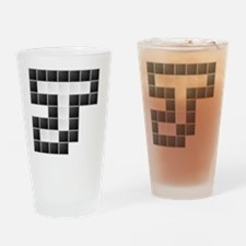"Letter ""J"" (Pixels) Drinking Glass"