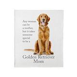 Golden retriever mom Fleece Blankets