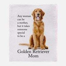 Golden Mom Throw Blanket