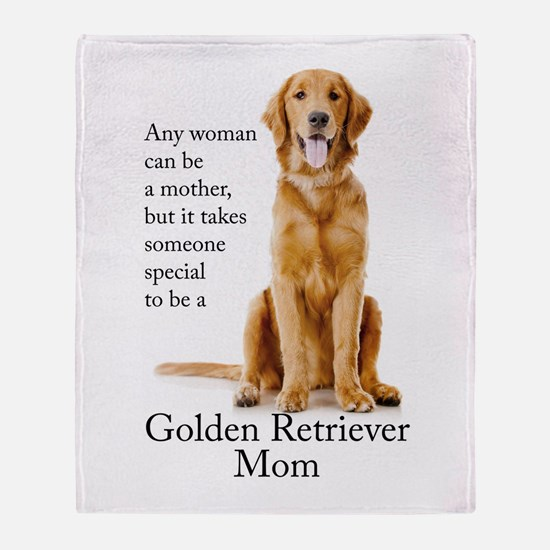 Golden Mom Throw Blanket