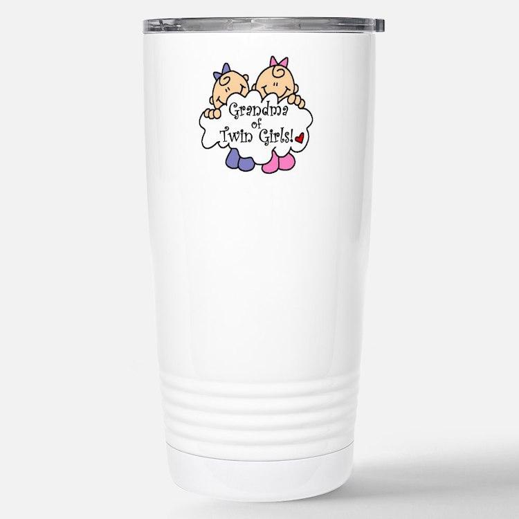 Cute New grandma twins Travel Mug