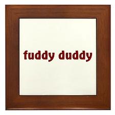 Fuddy Duddy Framed Tile