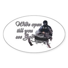 Wide Open Oval Decal
