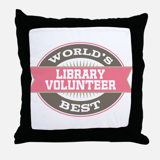 library volunteer Throw Pillow
