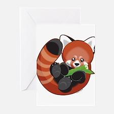 Red Panda Greeting Cards