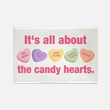 Candy Hearts II Rectangle Magnet