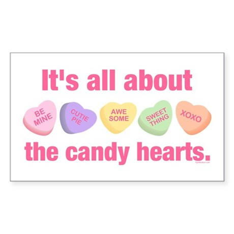 Candy Hearts II Rectangle Sticker
