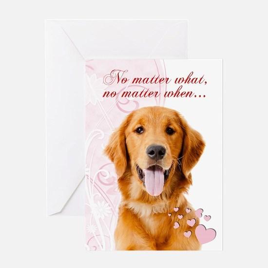 Golden Valentine Greeting Cards