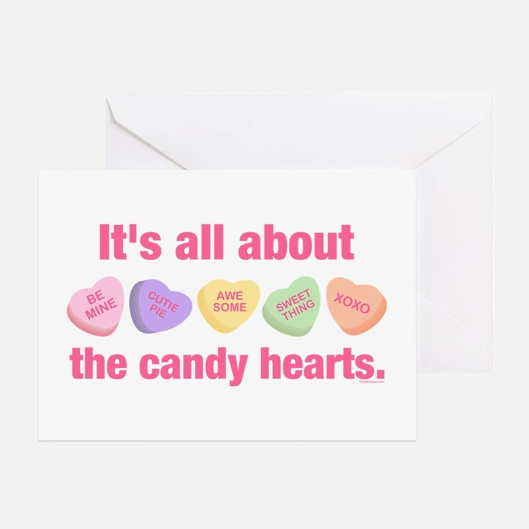 Candy Hearts II Greeting Card