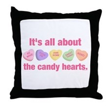 Candy Hearts II Throw Pillow
