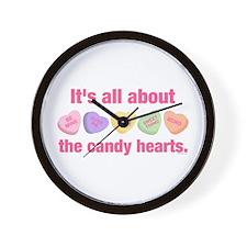 Candy Hearts II Wall Clock