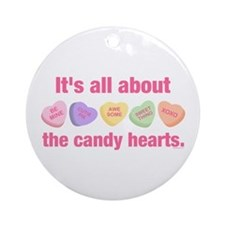 Candy Hearts II Ornament (Round)