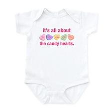 Candy Hearts II Infant Bodysuit