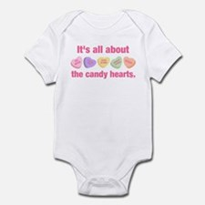 Candy Hearts II Infant Bodysuit