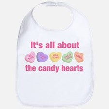 Candy Hearts II Bib