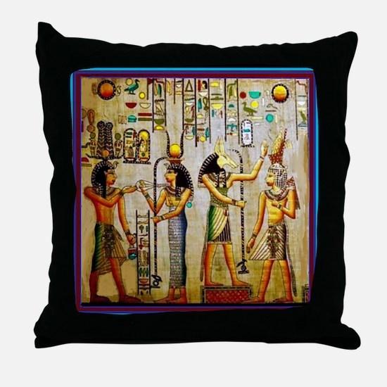 Egyptian Halloween Throw Pillow