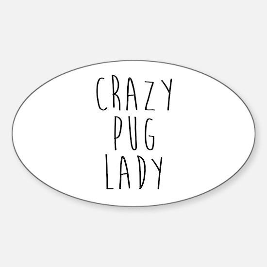 Unique Pug cute Sticker (Oval)