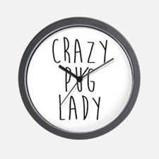 Unique Pugs not drugs Wall Clock