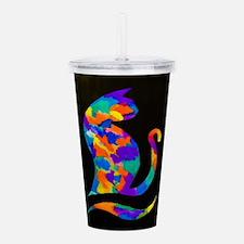 Rainbow Cat Acrylic Double-wall Tumbler