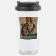 egyptian mau sitting 2 Travel Mug