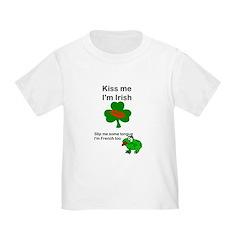KISS ME IM IRISH AND FRENCH T