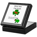 KISS ME IM IRISH AND FRENCH Keepsake Box