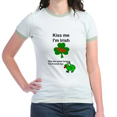 KISS ME IM IRISH AND FRENCH T