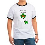 KISS ME IM IRISH AND FRENCH Ringer T