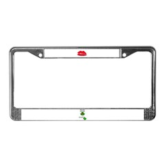KISS ME IM IRISH AND FRENCH License Plate Frame