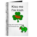 KISS ME IM IRISH AND FRENCH Journal