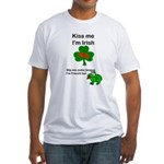 KISS ME IM IRISH AND FRENCH Fitted T-Shirt