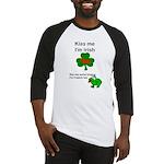 KISS ME IM IRISH AND FRENCH Baseball Jersey