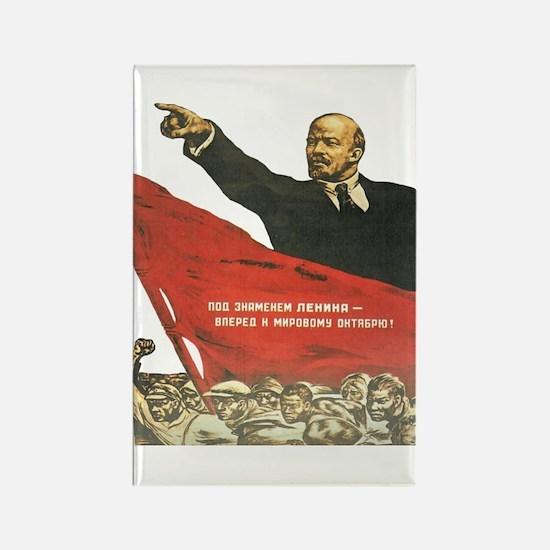 Cute Lenin Rectangle Magnet