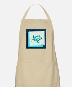 Blue Psychedelic Turtle Apron