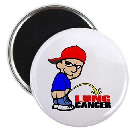 """Piss On Lung Cancer 2.25"""" Magnet (100 pack)"""