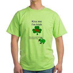 KISS ME IM IRISH, FROG WITH TONGUE T-Shirt