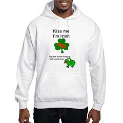 KISS ME IM IRISH, FROG WITH TONGUE Hoodie